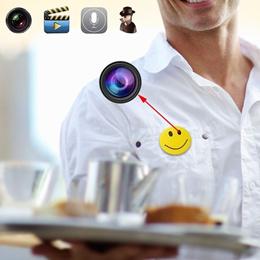 MVOWIZON Spy Camera M1 Smile Face 720P Hidden Camera for Home and Outdoor (Size: smile face camera)