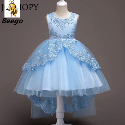 Flower Girls Dress For Wedding Pageant 2019 Summer Princess Party Baby  Dresses 5Colors Children Kids
