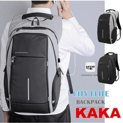 KAKA 100%genuine USB Charging Backpack Men 16.5Inch Laptop Backpack bag Waterproof Travel School