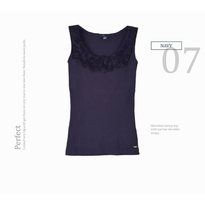 TANKTOP NAVY FLOWER