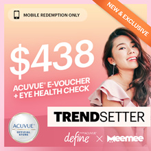 ACUVUE® x Mee Mee Define 8box Package at $358◆Eye Check + GWP $60 Sephora Voucher+Makeover worth $80