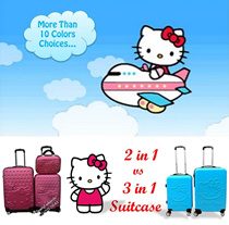 【Quality Guarrantee!!!!】Love Hello Kitty Luggage 2 in 1 vs 3 in 1 / Suit Case / More Colors