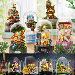 【TOGETHER Around n ROTATING Music World Series UPDATED 2019】 Miniature DIY doll house glass