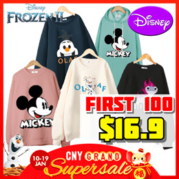 [RETNO x HOWRU] 2 for Free Shipping/ Disney Authentic Long sleeves T-shirts / Winter / Travel