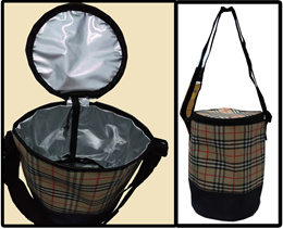 Tas Travel Cooler Bag Insulated Wadah Bulat Termos Box Makanan Dingin SJ0019 K001