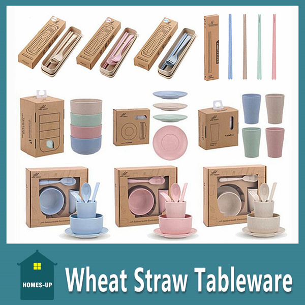 WheatStraw Tableware Eco-Friendly Product Microwave Cutlery Set? Gift Deals for only S$9.9 instead of S$0