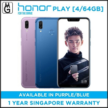 Honor Play 4/64GB (Blue/Purple/Player Edition) Local Warranty