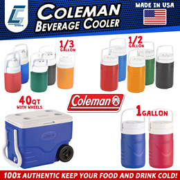 1bea8dbe4ac COLEMAN AUTHENTIC BRANDED SUPER COOL POLY LITE JUG AND COOLER WITH WHEELS  EASY TO CARRY CAMPING