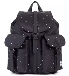 Herschel Supply Co. Mini Size Dawson Backpack Polka dot Scattered black/black rubber [Free Delivery]