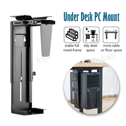 CPU Holder Under Desk Mount Adjustable Wall PC Stand Heavy Duty Computer Tower Casing Holder