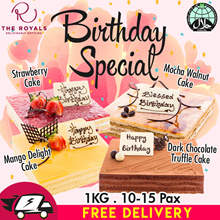 1KG Mango Delight/Chocolate Truffle/Strawberry/Mocha Walnut Cake (Birthday Special) Usual $58.00