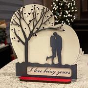 Sketchfab Laser Cut Heart Love Decor Door Hanger Monogrammed Valentines Day Centerpiece (D108)