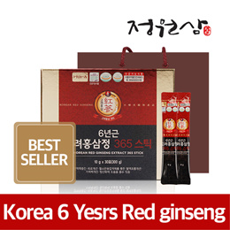 Korean 6 Years Red ginseng Extract 365 Stick(30pouch) / Bottle