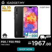 [RM1967 After RM300 Coupon] Huawei P20 / P20 Pro 📣 Huawei Malaysia Warranty [Free Gift : PINENG TYPE C CABLE]