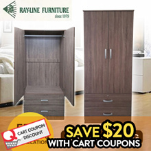 [RayLine Trading] 2 Door Wardrobe | 3 Door with Mirror | 5 Models | Free Delivery