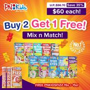 🌟 FREE PNKIDS EFFERVESCENT VITAMIN C 🌟 #1 Kids Vitamins Singapore MIX N MATCH【Made in USA】