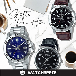 *APPLY SHOP COUPON* GIFTS FOR HIM! CASIO Leather N Stainless Steel Watches for Men. Free Shipping