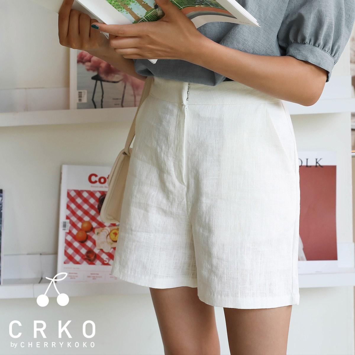 [CHERRYKOKO官方旗艦店] 亞麻短褲 / walk linens pants