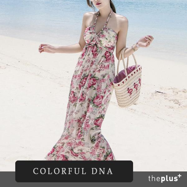★カラフルなドナ★katelynドレス(2色)/シフォン/女性/サマードレス/韓国ファッション