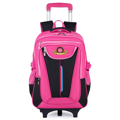 fc9f8c7e69ac Rolling Backpack, COOFIT School Backpack With Wheels, Back To School  Bookbag For Boys And Girl (Pink