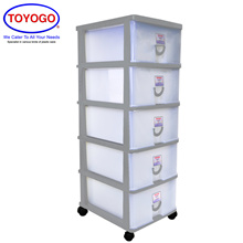 Toyogo Plastic Storage Cabinet / Drawer With Wheels (5 Tier) (804-5)