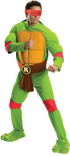 Ninja Halloween Costume Men.Rubie S Halloween Costume Men S Teenage Mutant Ninja Turtles Deluxe Adult Muscle