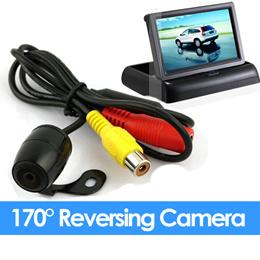 Night Vision 170° DEG Angle Wide Reversing Car Rear View Backup Camera (LCD Screen Option)