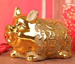 Piggy Bank Pig Large Piggy Bank Lucky Fortune Creative Cute Super Golden Pig Piggy Bank