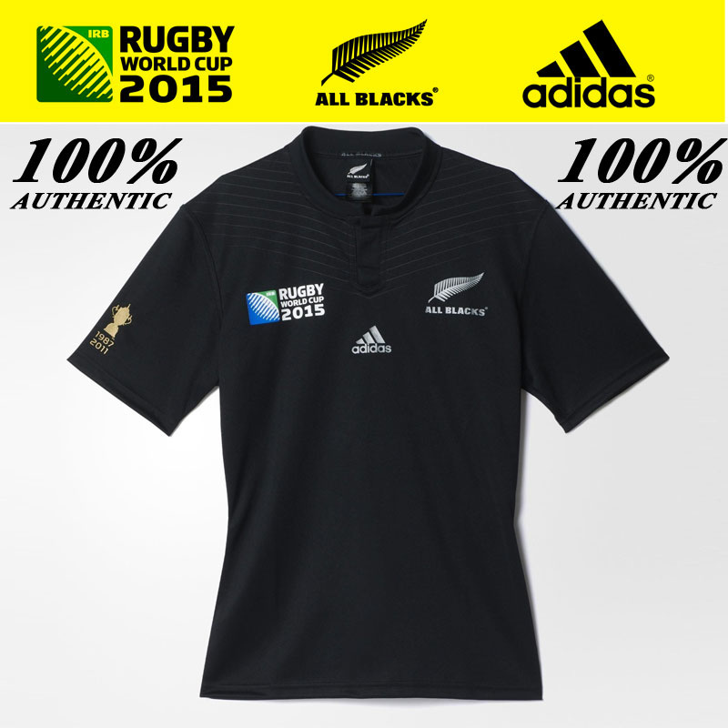 sports shoes 52d83 3d15e adidasADIDAS ALL BLACK 100% AUTHENTIC MENS RUGBY WORLDCUP JERSEY S88884