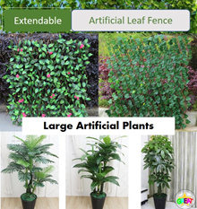 Large Artificial Plant / Artificial Leaves / Extendable leaf Fence / Gardening Deco /