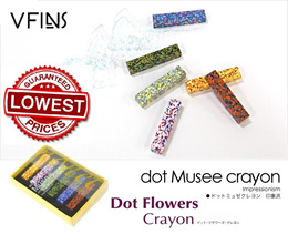 [Best Gift][Designer Crayon][From Japan] [Aozora Dot Flower][Dot Musee][ICICOLOR]
