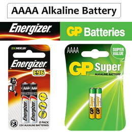 Energizer / GP AAAA Alkaline Battery ★ Ready Stocks ★ 25A / E96 1.5V 2pcs Pack
