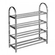 UB Furniture 4 Tier Layers Simple Practical Space Saving Stainless Steel Shoe Storage Display Rack (