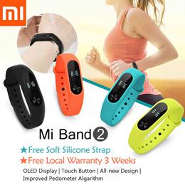 [JD Super Sale]Original Xiaomi Mi Band 2★Smart Wristband Bracelet★Heart Beat★Fitness★Tracker Counter