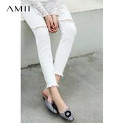 c79ca7fda2 Quick View Window OpenWish. rate 0. Amii minimalist Korean version of the  port wind chic hole nine points jeans female 2018 autumn ...