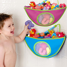 Corner Baby Kids Bath Toys Storage Bag Organizer Mesh Net Hanging Tidy Toy Basket with Suction Cups