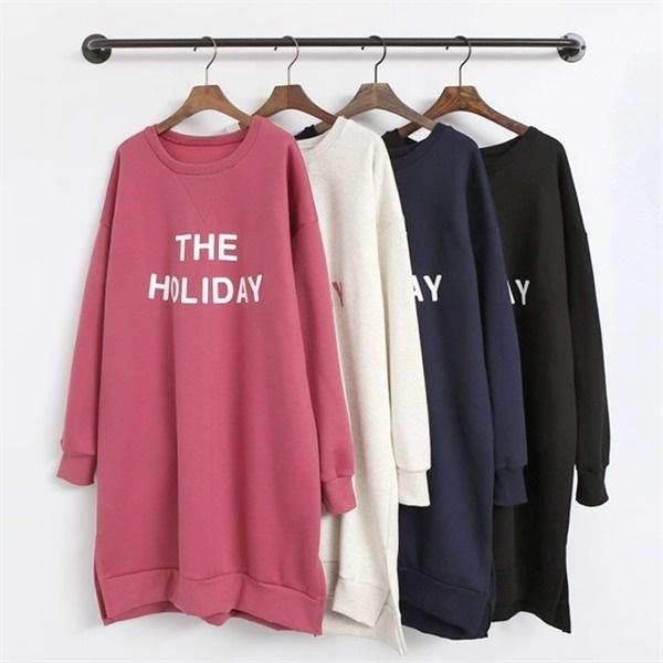[韓国直送] 冬ワンピース起毛Tシャツ