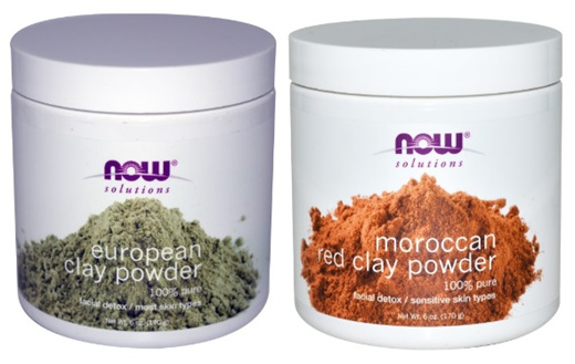 3 Pack Now Foods Red Clay Powder Moroccan 6 oz