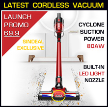 (Launch Promo) KCG UltraMax R10 Cordless Vacuum Cleaner | Cyclone Suction | FREE Autosqueeze Mop!