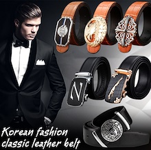 2017 Korean fashion clssic leather belt / Men Business Automatic buckle belt / Needle buckle belt