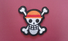 SKULL Iron On Patch Fabric Applique Embroidered Motif One Piece Cartoon Decal 2.9 x 2.7 inches (7.3 x 6.8 cm)