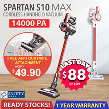 【ONE DAY SALE❗】SPARTAN S10 MAX 18.5kPA Suction Power | Cordless Vacuum | All New Flagship Model❗