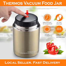 [Local Seller] Thermos Food Jarv/ Thermal Vacuum Flask / Lunch Box /SUS304 Stainless Steel