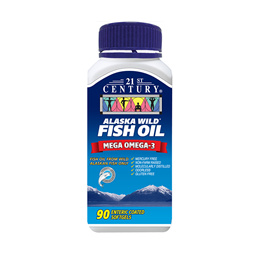 [21st Century] ALASKA WILD FISH OIL - OMEGA 3 ENTERIC COATED odourless 90s
