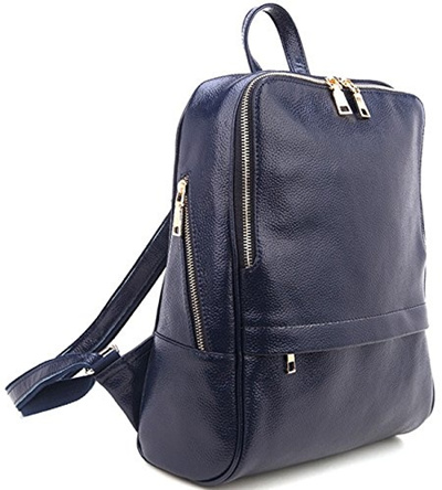 c8ca594af38 Coolcy Hot Style Casual Women Genuine Leather Backpack Fashion Shoolbag  Camping Bag Shudder Bag (Roy