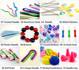 [NEW LISTING ]  Crochet Accessories ★ Ruler ★ Buttons ★ Needles ★ Hook ★ Stitch Markers ★