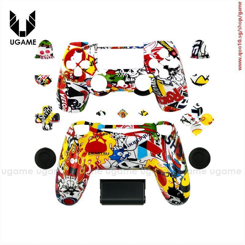 Custom Hydro Dipped STICKERBOMB SHELL Mod Kit For SONY PS4 Controller  Housing Cover For Play statio