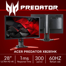 [Special Promotion] Predator XB281HK Gaming Monitor- 28 Ultra HD 4K NVIDIA G-Sync