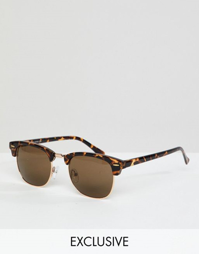 Tort Reclaimed In To Inspired Asos Sunglasses Retro Exclusive Vintage DHI9WY2E