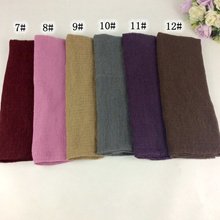 store Crinkle Viscose Plain Muslim Hijab Wrinkle Long Women Shawls And Scarves 10pcs/lot